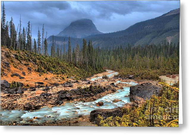 Greeting Card featuring the photograph Blue Through The Yoho Valley by Adam Jewell