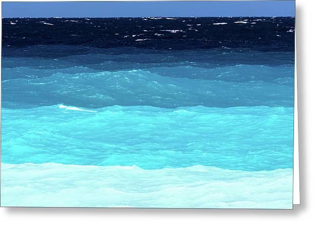 Blue Tones Of Ionian Sea Greeting Card