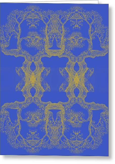 Blue Tree 14 Hybrid 4 Greeting Card