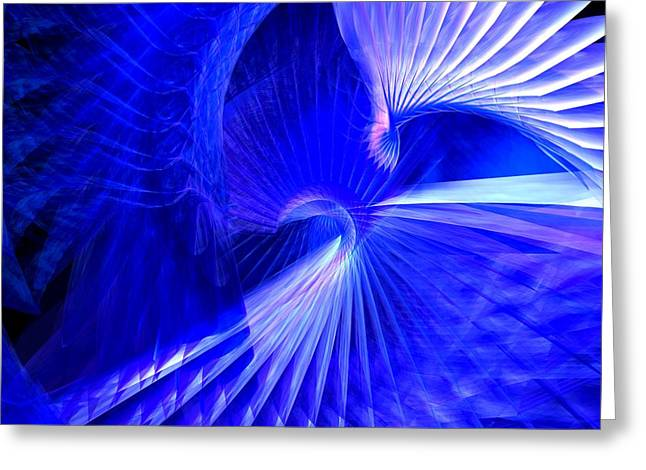 Blue Tunnel Greeting Card