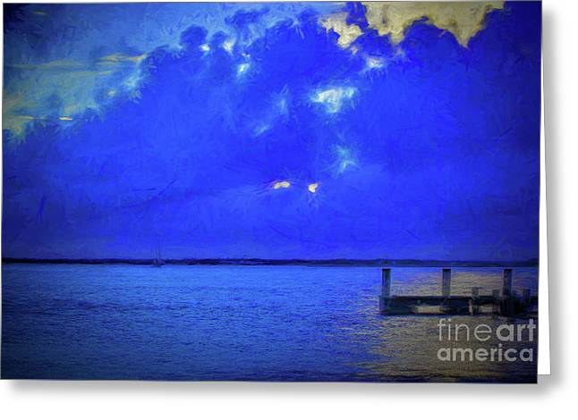 Blue Twilight Greeting Card by Dave Bosse
