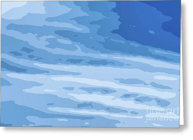 Blue Vector Sky White Clouds Greeting Card