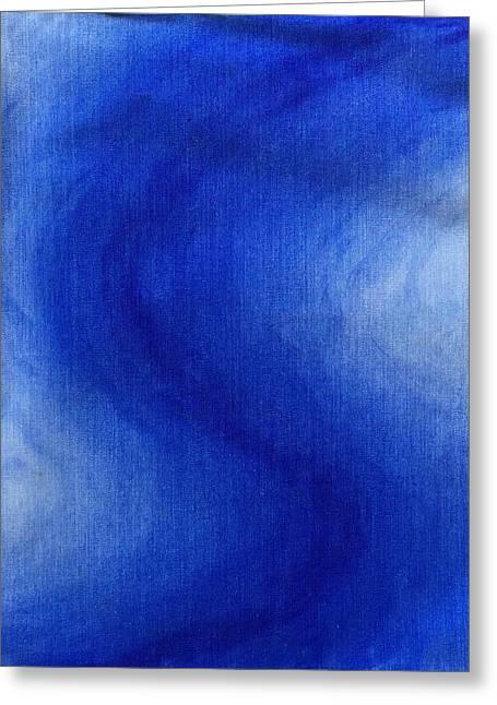Blue Vibration Greeting Card