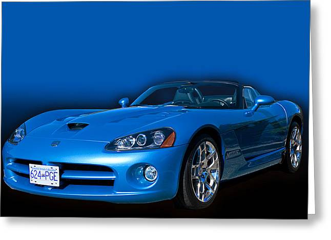 Blue Viper Greeting Card