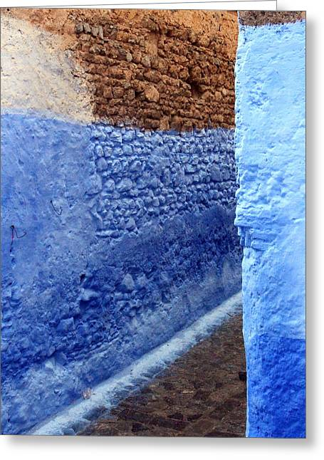 Greeting Card featuring the photograph Blue Walls Of Chefchaouen by Ramona Johnston