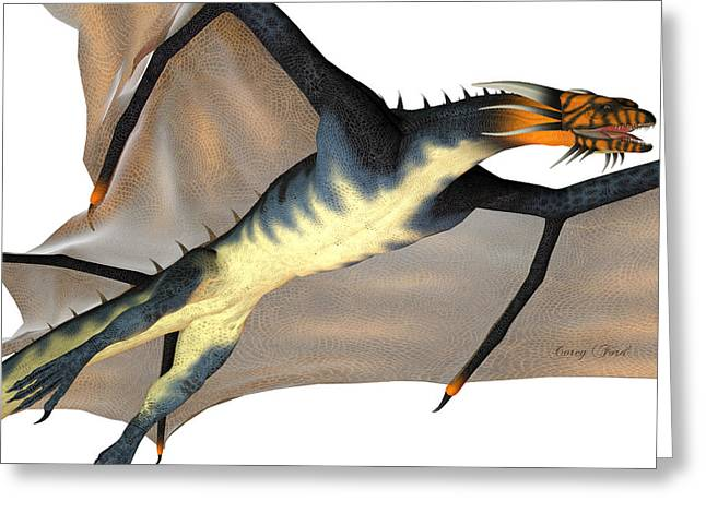 Blue Wasp Dragon Reign Greeting Card by Corey Ford