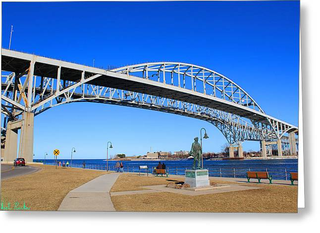 Blue Water Bridge Greeting Card