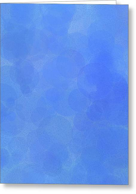 Blue Water Bubbles Greeting Card