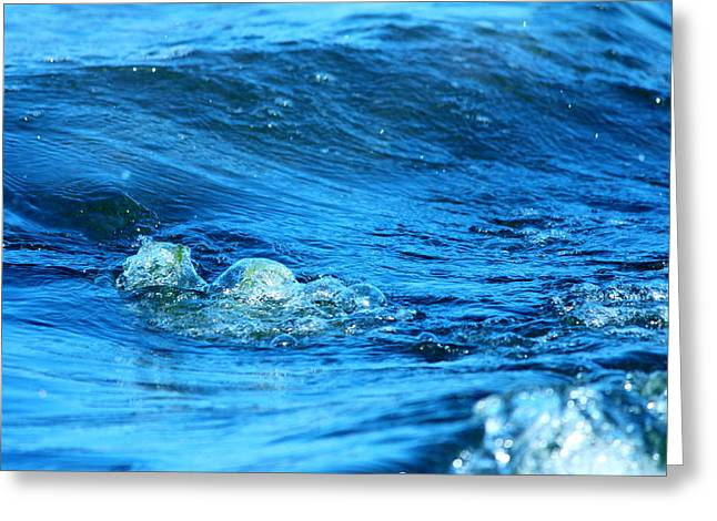 Blue Water Greeting Card by Heike Hultsch