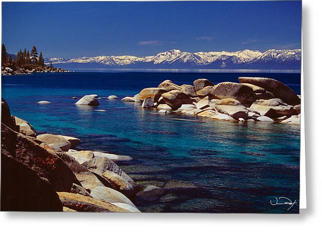 Blue Water Lake Tahoe Greeting Card
