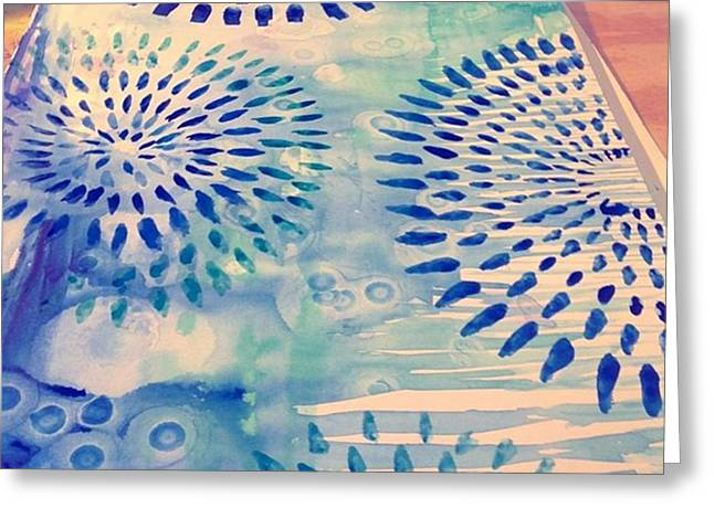 #blue Watercolor And #alcoholdrops Give Greeting Card