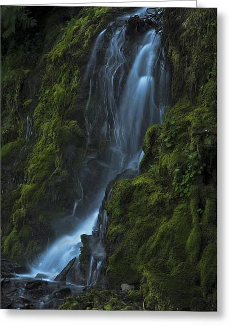 Greeting Card featuring the photograph Blue Waterfall by Yulia Kazansky