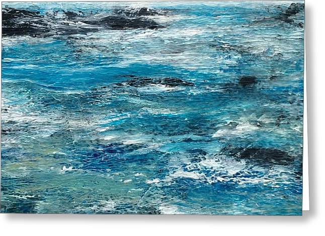 Blue Waters Greeting Card by Judy Jacobs
