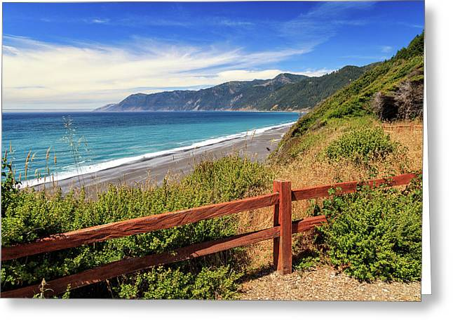 Greeting Card featuring the photograph Blue Waters Of The Lost Coast by James Eddy