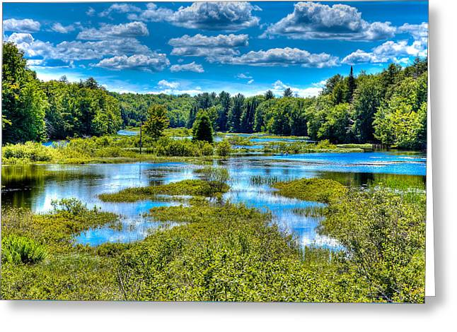 Blue Waters Of The Moose River Greeting Card