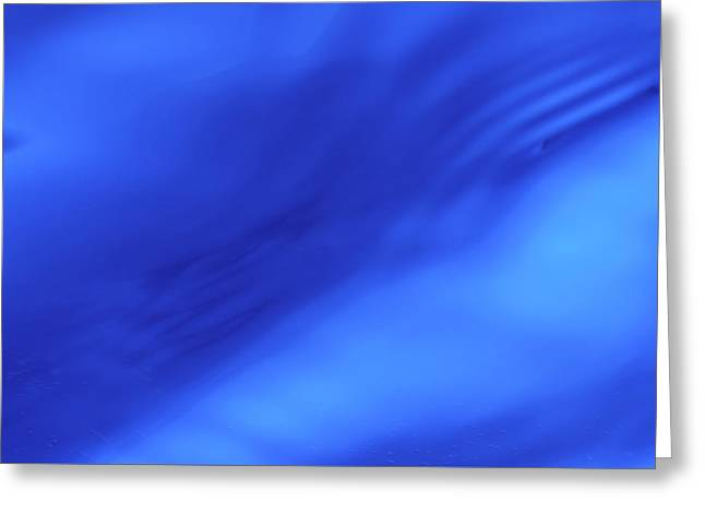 Blue Wave Abstract Greeting Card by Steve Gadomski