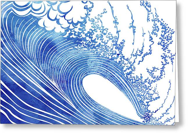 Blue Wave Greeting Card