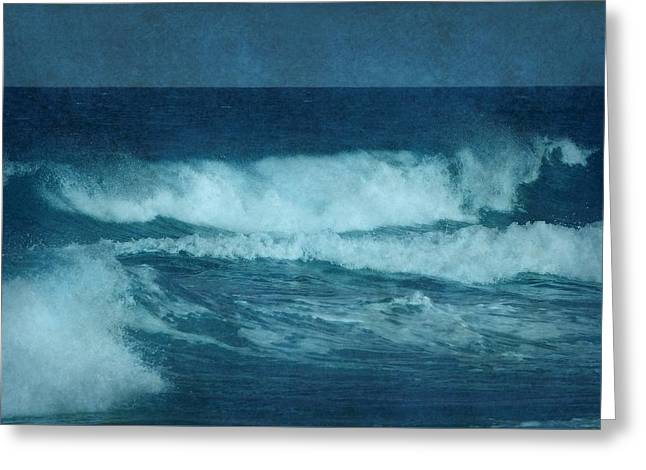 Blue Waves - Jersey Shore Greeting Card by Angie Tirado