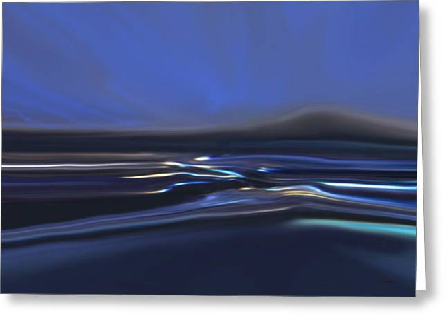 Blue Waves Greeting Card by Tim Stringer