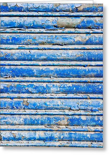 Blue Weathered Metal  Greeting Card