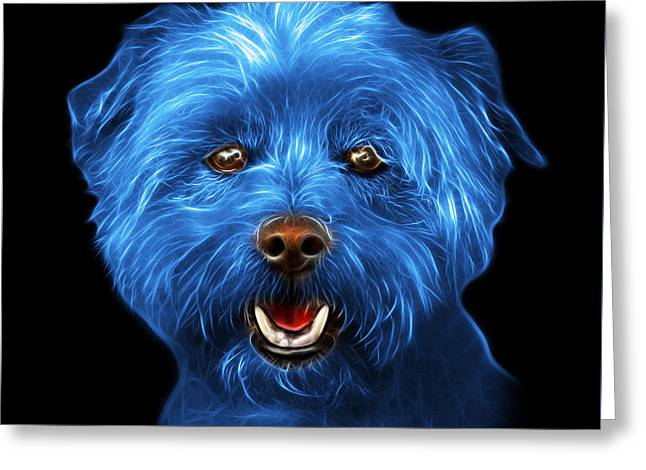 Blue West Highland Terrier Mix - 8674 - Bb Greeting Card