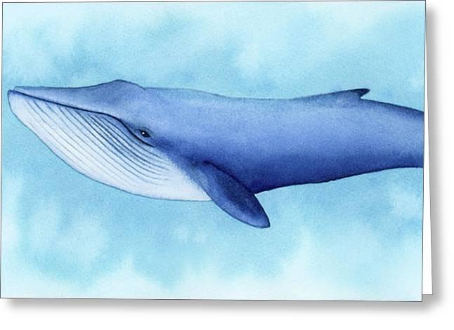 Blue Whale Greeting Card