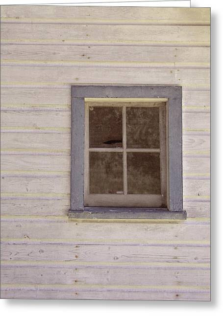 Blue Window Greeting Card by JAMART Photography