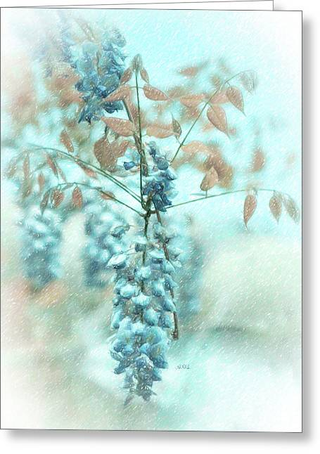 Blue Wisteria Greeting Card by Angela A Stanton
