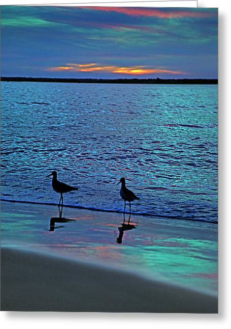 Blue Without You Greeting Card by Betsy Knapp