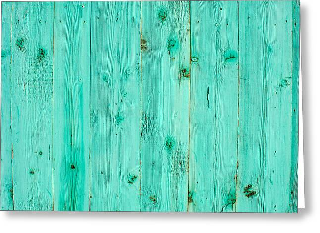 Blue Wooden Planks Greeting Card by John Williams