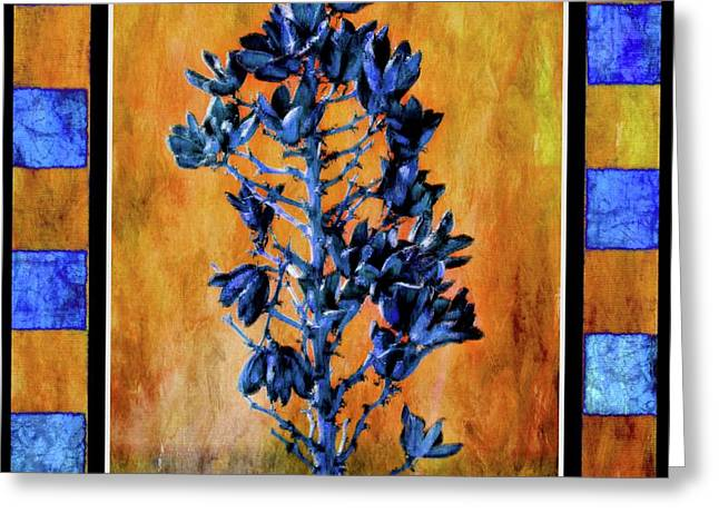 Blue Yucca Greeting Card