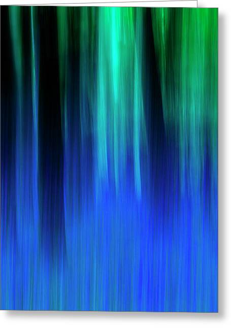 Bluebell Panned Abstract Greeting Card