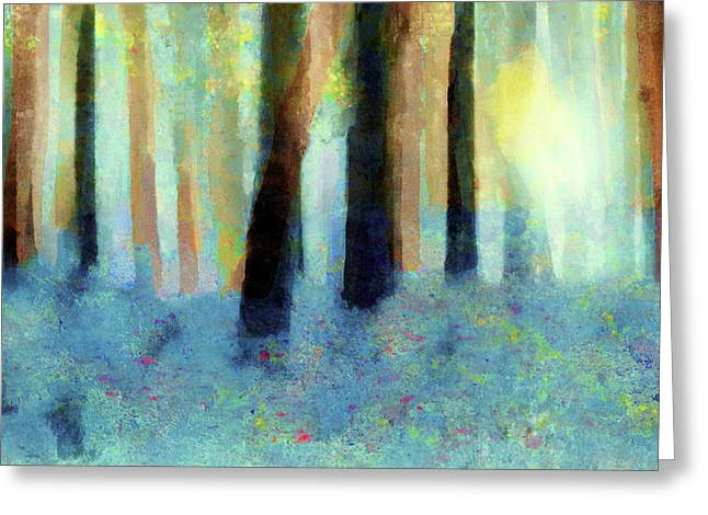 Bluebell Wood By V.kelly Greeting Card