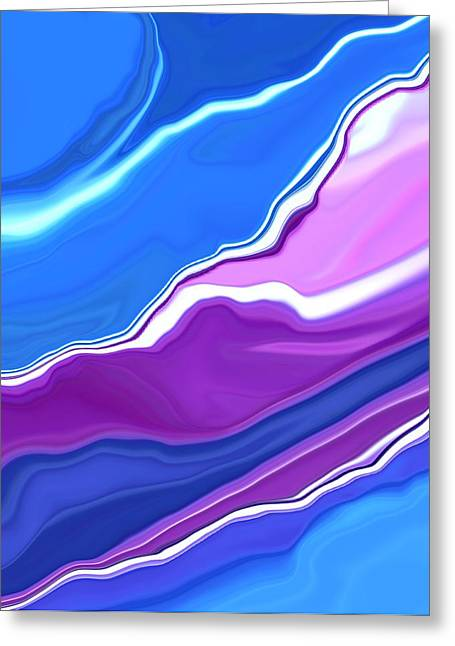 Bluebells Abstract2 Greeting Card by Linnea Tober