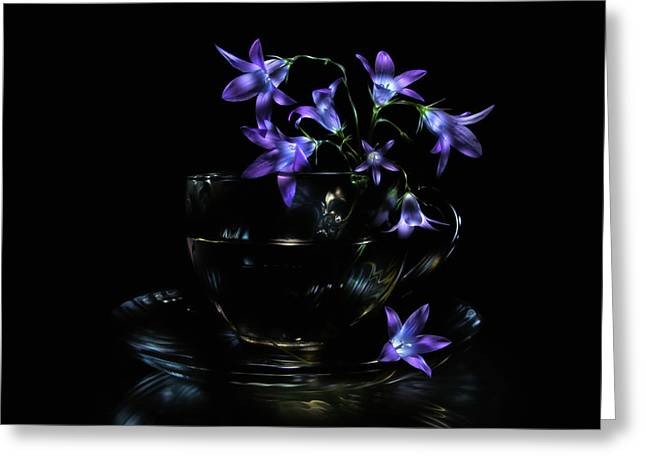 Greeting Card featuring the photograph Bluebells by Alexey Kljatov