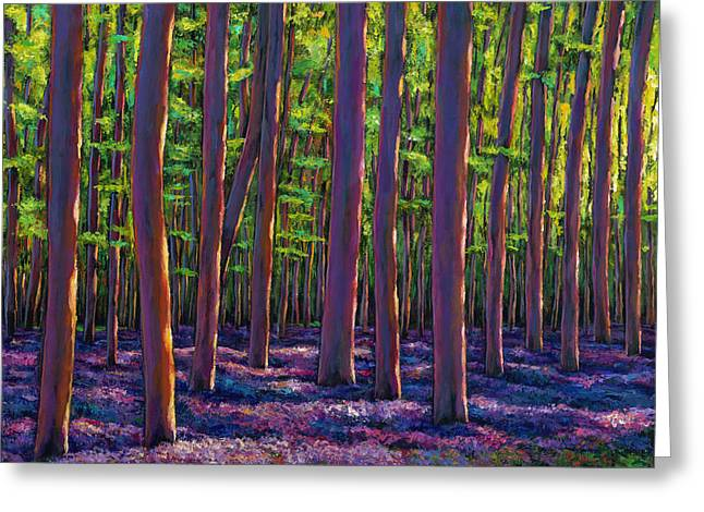 Bluebells And Forest Greeting Card