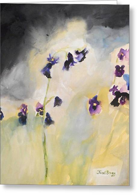 Bluebells And Pansies Greeting Card by Janel Bragg