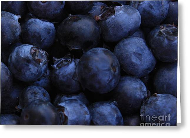 Blueberries Close-up - Horizontal Greeting Card