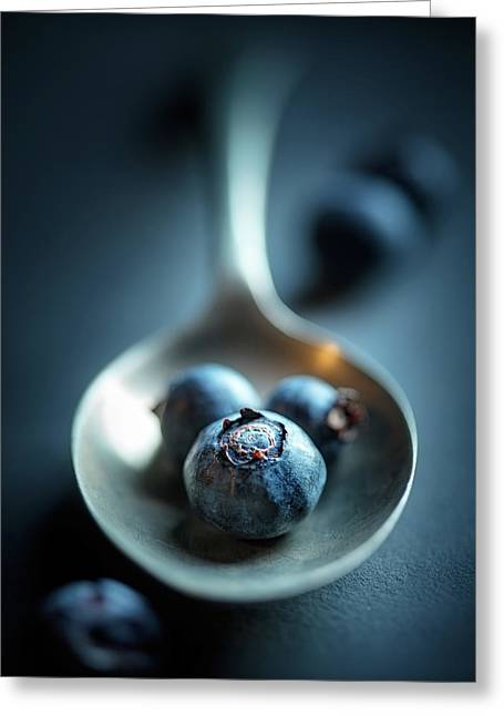 Blueberries Macro Still Life Greeting Card