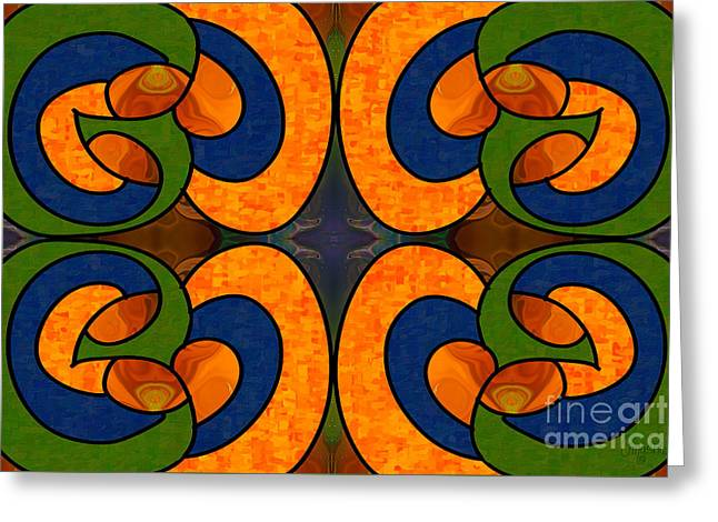 Blueberry Bliss Abstract Rainbow Sherbert Art By Omashte Greeting Card by Omaste Witkowski