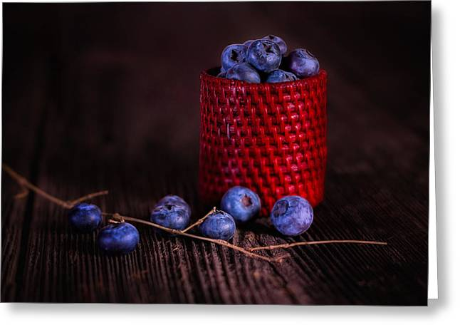 Blueberry Delight Greeting Card by Tom Mc Nemar