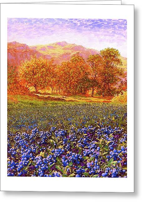 Blueberry Fields Season Of Blueberries Greeting Card