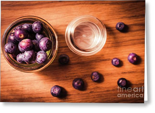 Blueberry Kitchen Still Life Greeting Card by Jorgo Photography - Wall Art Gallery