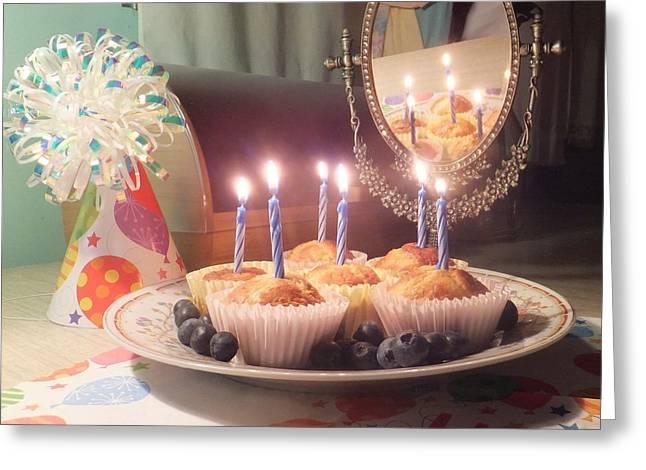 Blueberry Muffin Birthday Greeting Card