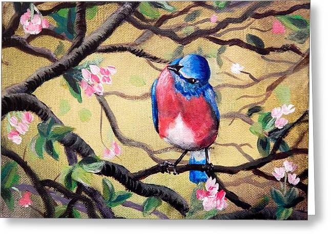 Bluebird By Gretchen Smith Greeting Card