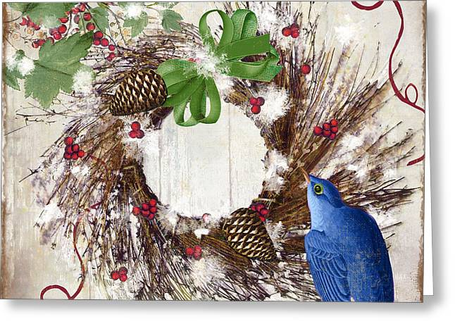 Bluebird Christmas II Greeting Card