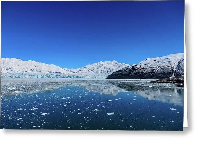 Bluebird Day At Hubbard Glacier Greeting Card