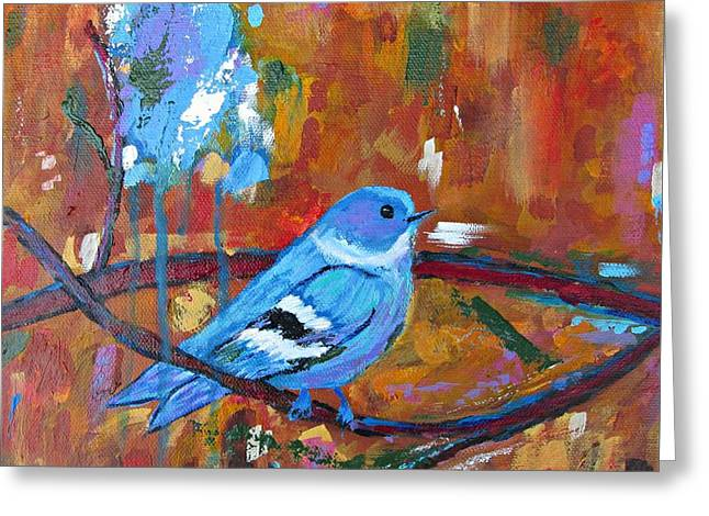 Bluebird In Autumn Greeting Card