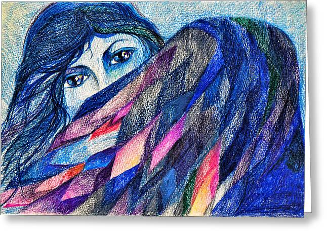 Bluebird Of Happiness. Greeting Card by Anastasia Michaels