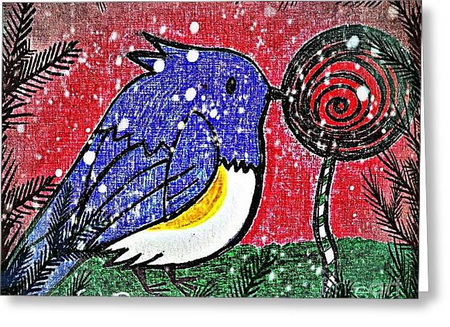 Bluebird Of The Season Greeting Card